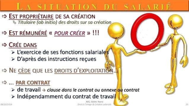 08/10/2014  AEC, Cédric Favre  Droit à l'image & Création salariale 25