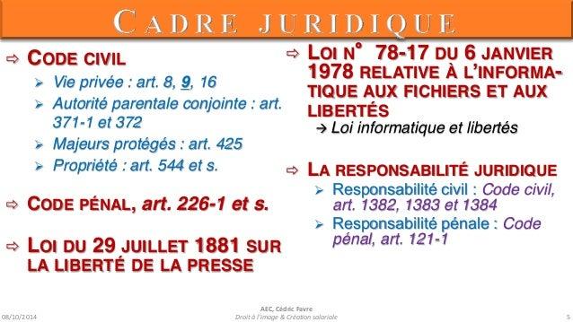 08/10/2014  AEC, Cédric Favre  Droit à l'image & Création salariale 7