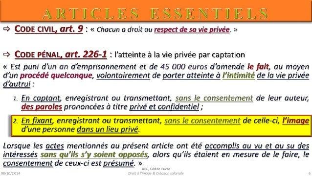 08/10/2014  AEC, Cédric Favre  UTILISATION  =  DIFFUSION  =  PUBLICATION  Droit à l'image & Création salariale 8