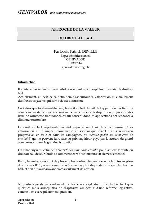 Droit Au Bail