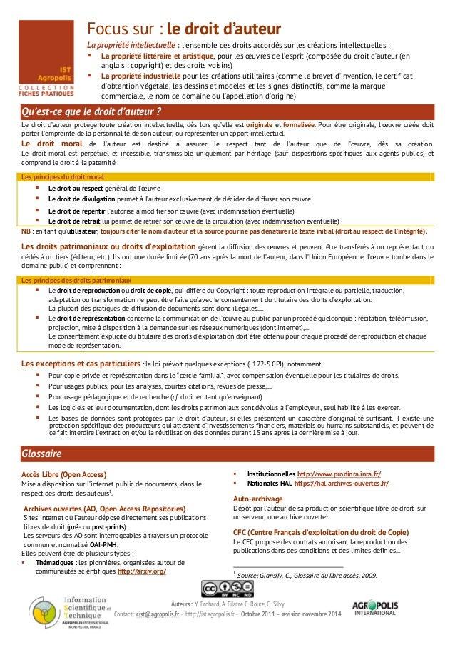 Auteurs : Y. Brohard, A. Filatre C. Roure, C. Silvy Contact : cist@agropolis.fr – http://ist.agropolis.fr - Octobre 2011 –...