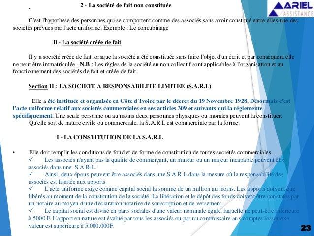 l acte uniforme ohada pdf