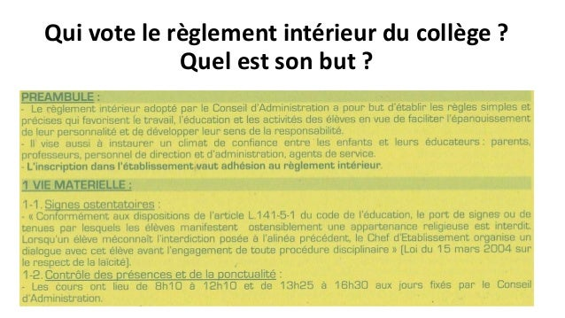 Droit et justice en france for Definition du reglement interieur
