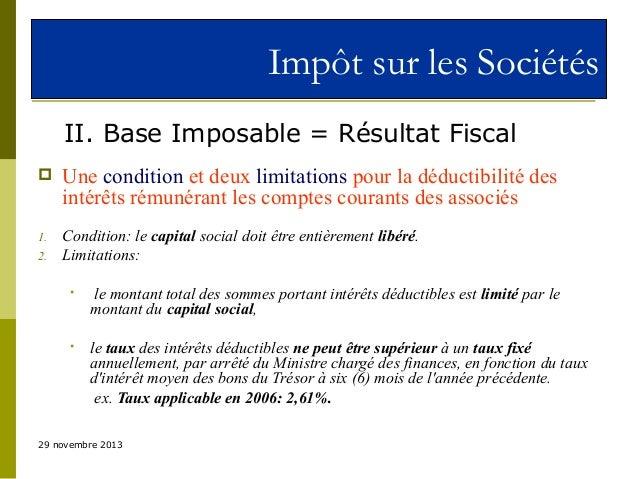 Droit Fiscal Au Maroc L Is