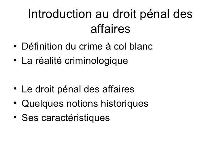 Droit penal des_affaires Slide 2