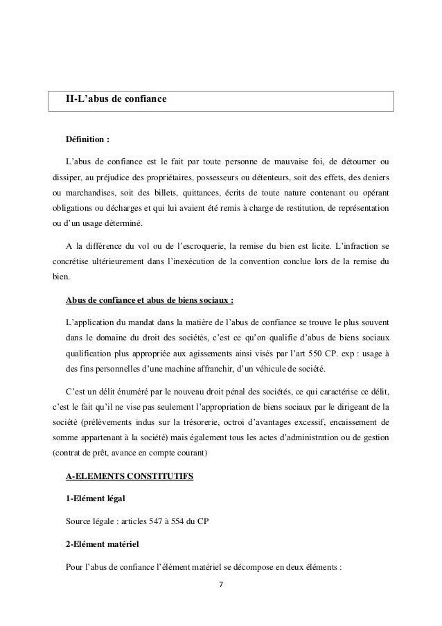 Droit Penal Des Affaires Resume Pol 1