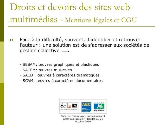 Droits et devoirs des sites web emmanuelle vitalis - Droit et devoir du locataire ...