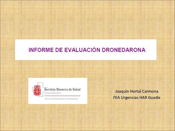 Joaquín Hortal Carmona FEA Urgencias HAR Guadix