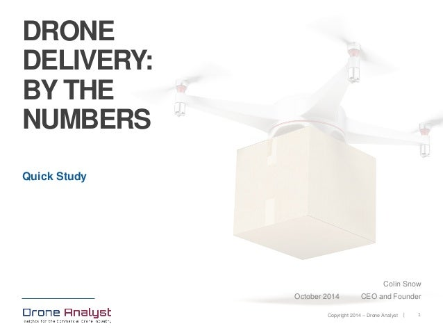 Drone Delivery: By The Numbers