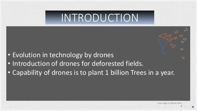 Drone for reforestation
