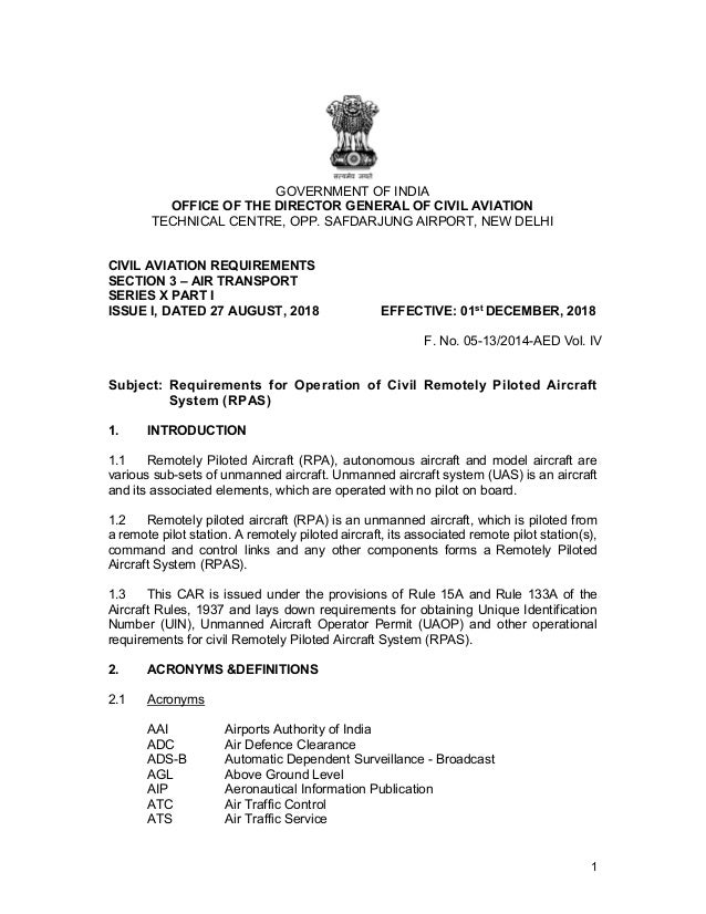 1 GOVERNMENT OF INDIA OFFICE OF THE DIRECTOR GENERAL OF CIVIL AVIATION TECHNICAL CENTRE, OPP. SAFDARJUNG AIRPORT, NEW DELH...