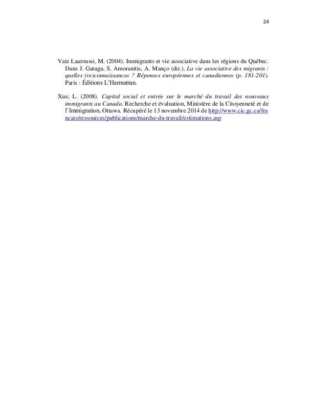 Droniou 2015 eexploration de la perception du - Grille d evaluation immigration quebec ...