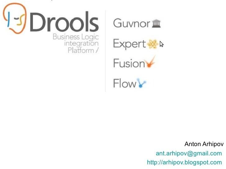 Anton Arhipov [email_address]   http://arhipov.blogspot.com