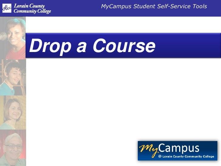 Drop a Course<br />