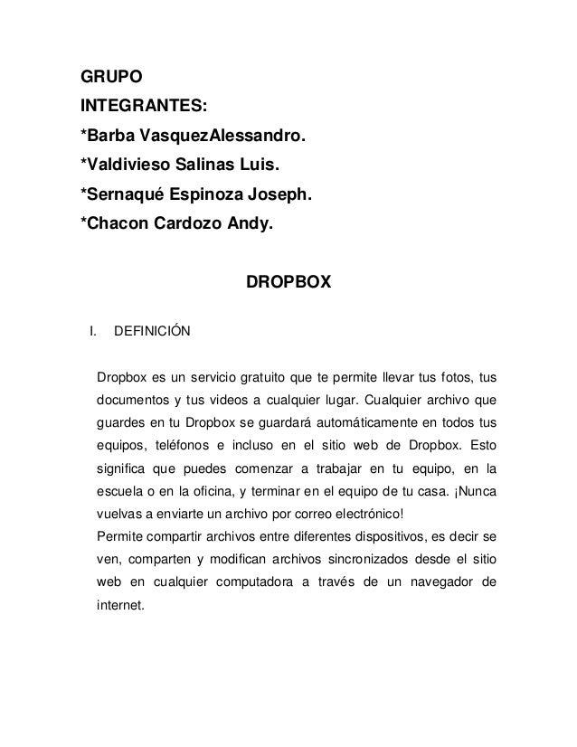 GRUPO INTEGRANTES: *Barba VasquezAlessandro. *Valdivieso Salinas Luis. *Sernaqué Espinoza Joseph. *Chacon Cardozo Andy. DR...