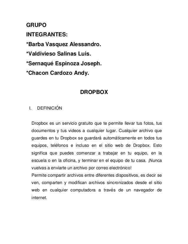 GRUPO INTEGRANTES: *Barba Vasquez Alessandro. *Valdivieso Salinas Luis. *Sernaqué Espinoza Joseph. *Chacon Cardozo Andy. D...