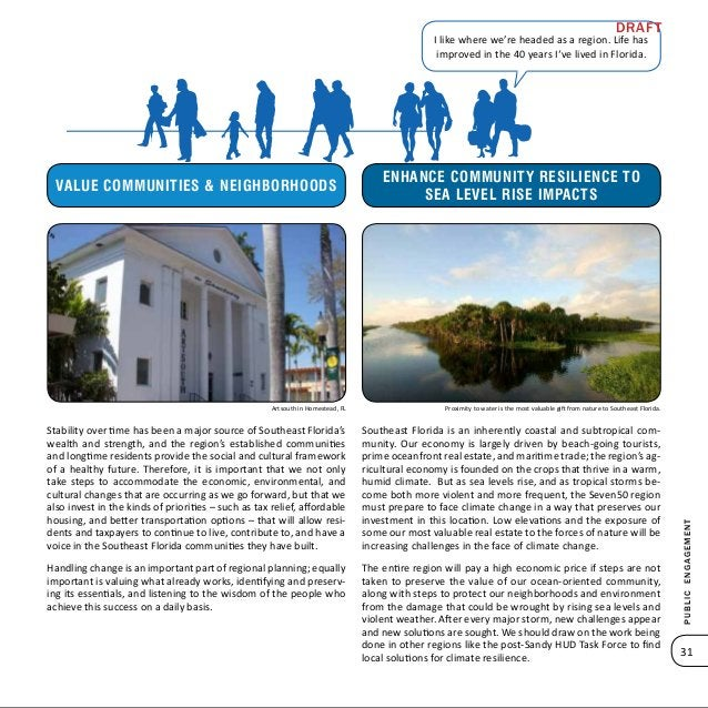 Publicengagement 33 Public Engagement Summary An Extensive Public Planning Effort for Southeast Florida From the town of S...