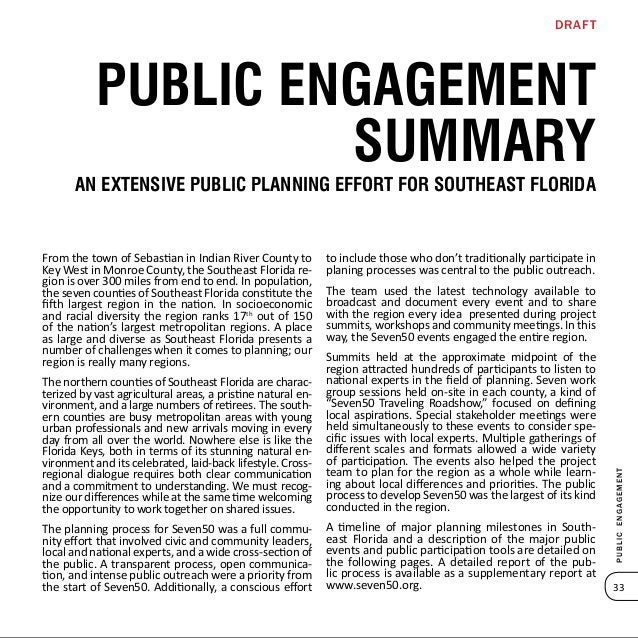 Publicengagement 35 brighter future Second Summit A look ahead: Trend & Opportunities January 24, Miami The Trend Scenario...