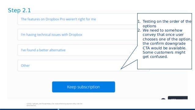 dropbox downgrade