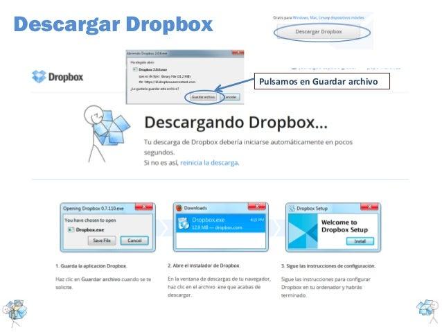 Descargar DropboxPulsamos en Guardar archivo