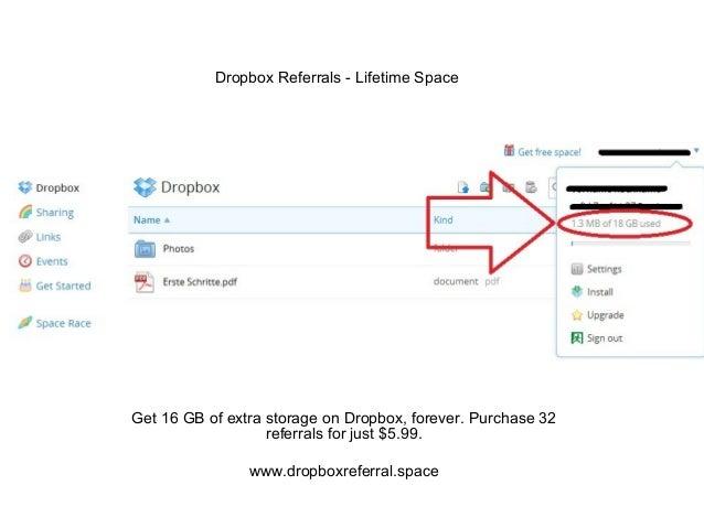 Dropbox Bonus Storage