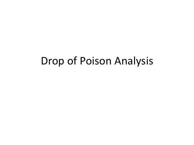 Drop of Poison Analysis