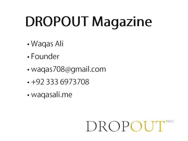 Dropout Magazine :: Pitch at Startup Weekend Lahore 2012