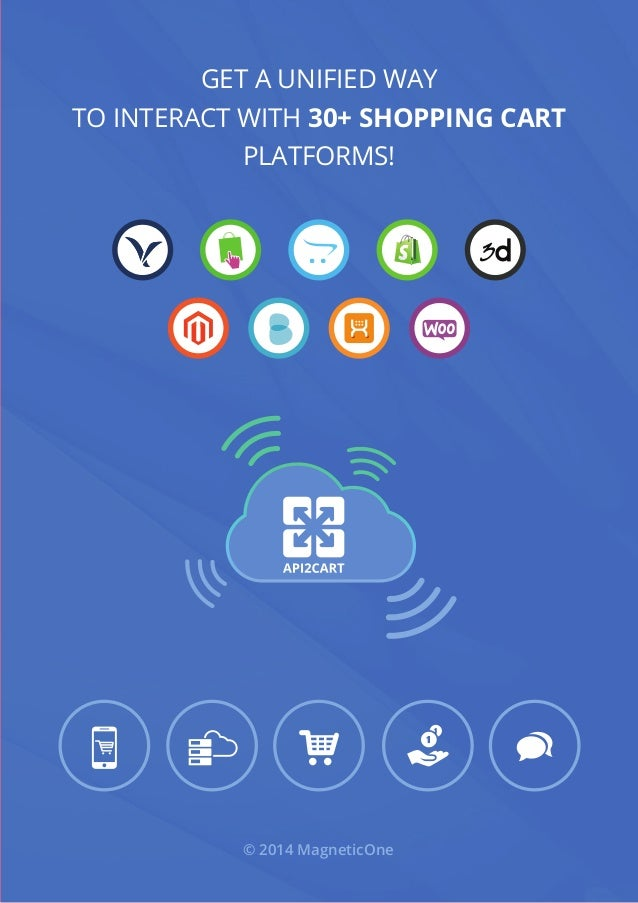 Get a unified way to interact with 30+ shopping cart platforms! © 2014 MagneticOne