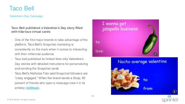 ... 14. © 2015 Sprinklr. All Rights Reserved. Taco Bell Valentineu0027s Day ...