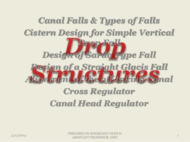Drop Structure Lecture 1