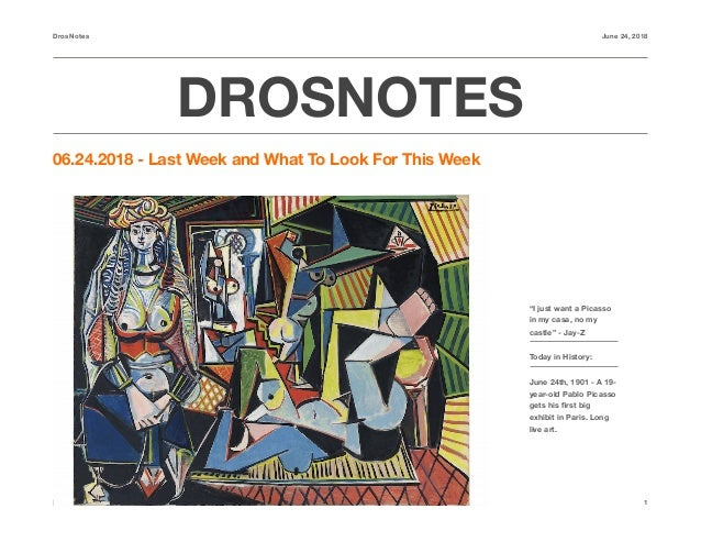 """DrosNotes June 24, 2018 DROSNOTES 06.24.2018 - Last Week and What To Look For This Week https://androstrades.com 1 """"I just..."""