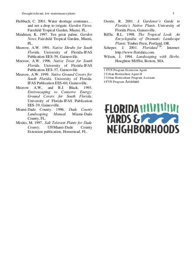 Drought tolerant low maintenance plants for south florida for Low maintenance drought resistant landscaping