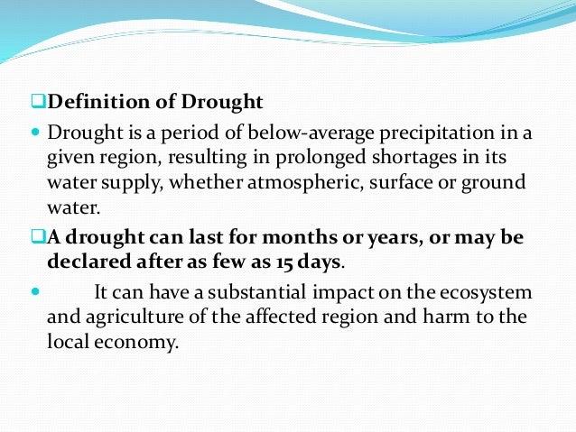 Drought management Slide 3