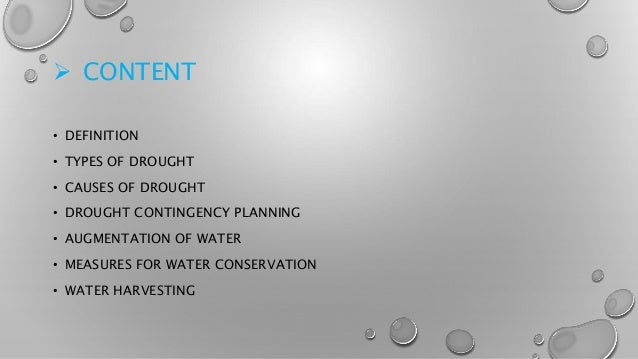 Drought management and water harvesting Slide 2