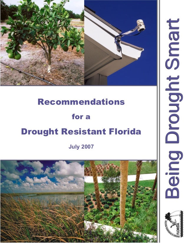 Recommendations          for aDrought Resistant Florida         July 2007                     1