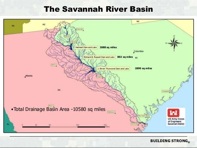 Savannah River Basin DroughtOctober - Savannah river us map