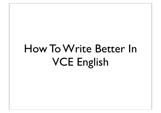 Vce english context essay