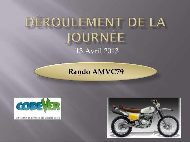 13 Avril 2013Rando AMVC79