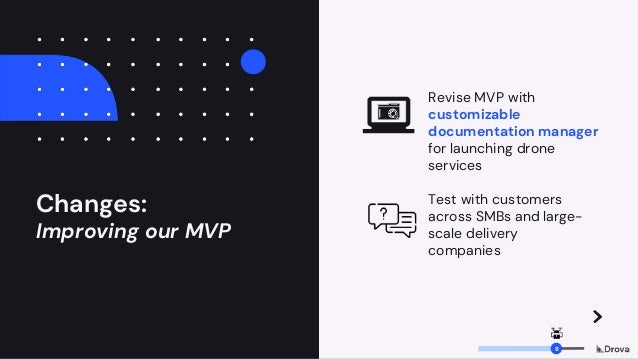 Changes: Improving our MVP Revise MVP with customizable documentation manager for launching drone services Test with custo...