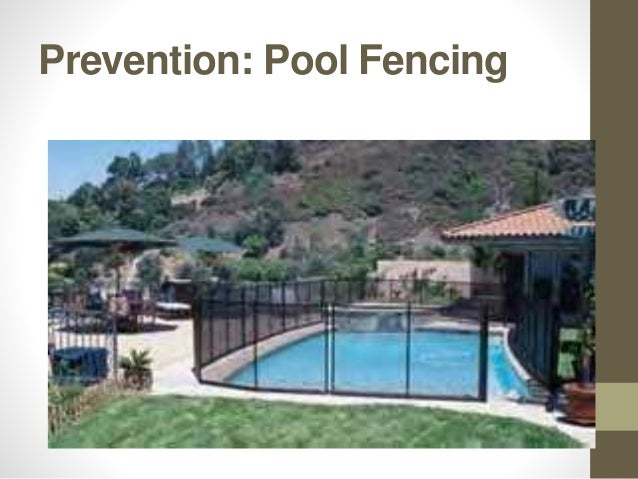 Prevention: Pool Fencing