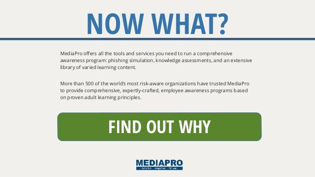 More than 500 of the world's most risk-aware organizations have trusted MediaPro to provide comprehensive, expertly-crafte...