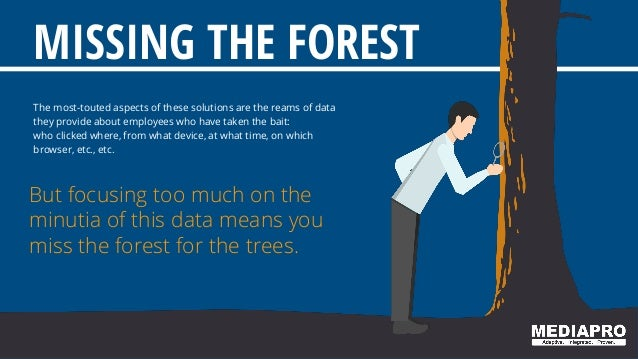 MISSING THE FOREST The most-touted aspects of these solutions are the reams of data they provide about employees who have ...