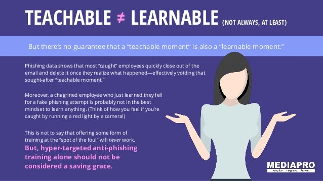 """But there's no guarantee that a """"teachable moment"""" is also a """"learnable moment."""" This is not to say that offering some for..."""