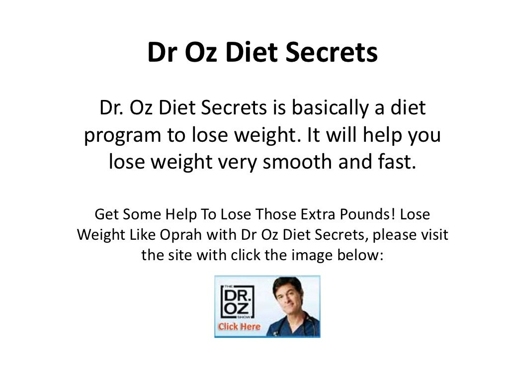 Dr Oz Diet Secrets