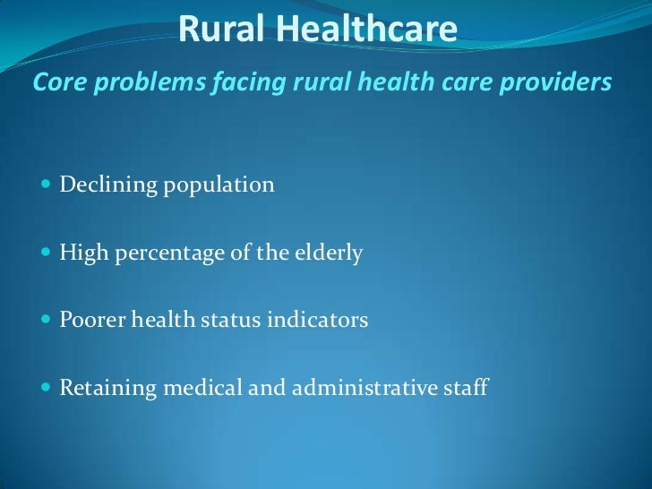 rural health problems and measures Associate dean for rural health and director    problems  and needs of rural communities and  standardized performance measures.