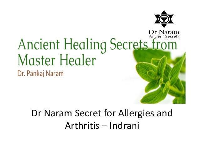 Dr Naram Secret for Allergies and Arthritis – Indrani