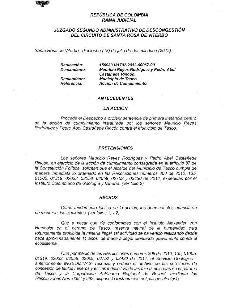 REPÚBLICA        DE  COLOMBIA                                  RAMA        JUDICIAL          JUZGADO SEGUNDO ADMINISTRATIV...