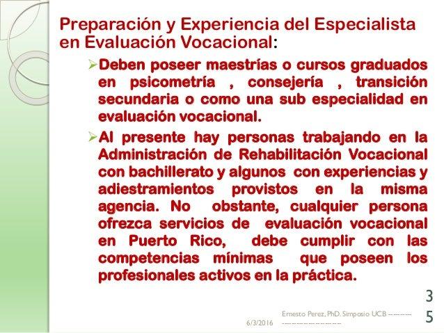 Dr Ernesto Perez - Simposio Evaluación Vocacional