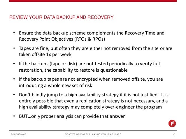 network disaster recovery plans