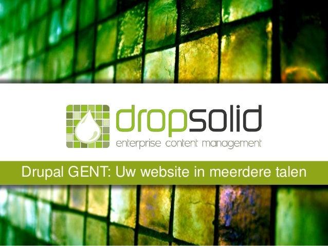 Drupal GENT: Uw website in meerdere talen